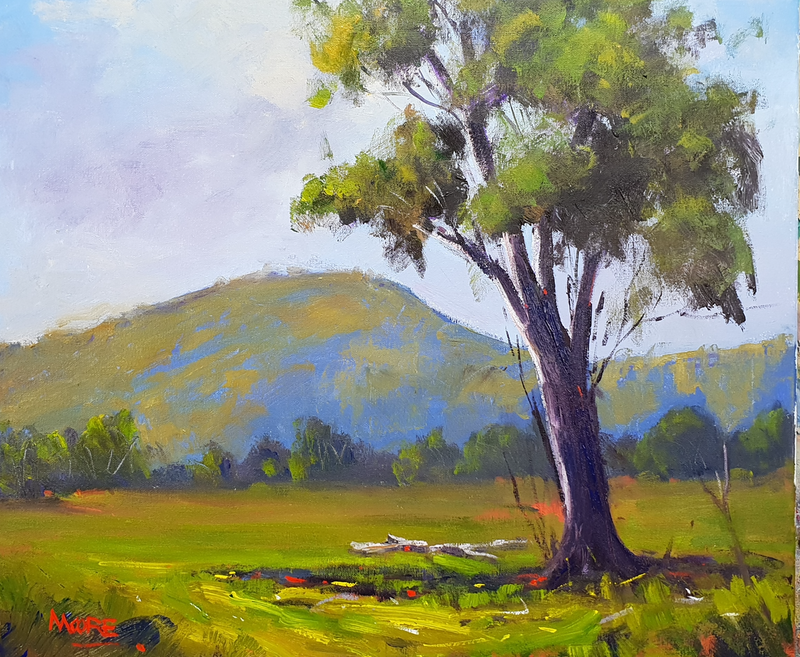 (CreativeWork) Og's Hill 2 by Rod Moore. arcylic-painting. Shop online at Bluethumb.