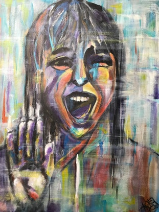(CreativeWork) SCREAM by Kristine Polkinghorne. Acrylic Paint. Shop online at Bluethumb.