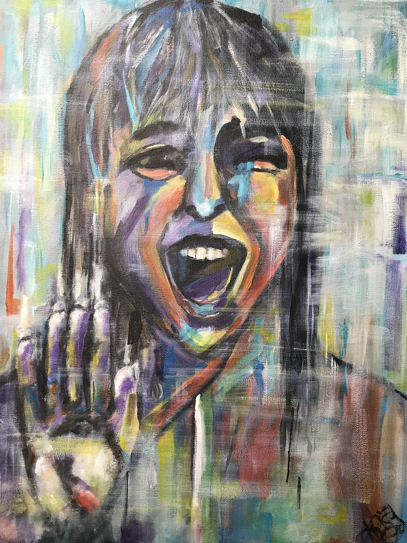 (CreativeWork) SCREAM by Kristine Polkinghorne. arcylic-painting. Shop online at Bluethumb.