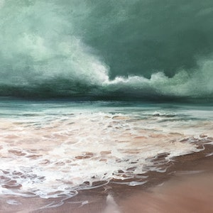 (CreativeWork) Before the Storm by Kathryn Johnston. arcylic-painting. Shop online at Bluethumb.