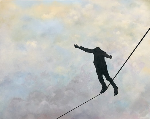 (CreativeWork) Precarious by Donna Christie. Oil Paint. Shop online at Bluethumb.