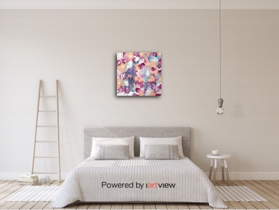 "(CreativeWork) ""Summer Lovin'"" Original modern art design on canvas ready to hang by Debra Ryan. #<Filter:0x00007f7cb8cfb480>. Shop online at Bluethumb."