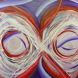(CreativeWork) Infinity - go with the flow by . Callous. arcylic-painting. Shop online at Bluethumb.