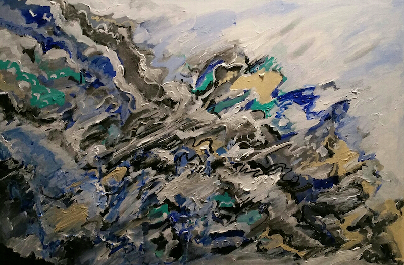 (CreativeWork) Thousand years of the sea by Tim Nash. acrylic-painting. Shop online at Bluethumb.