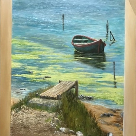 (CreativeWork) Solitude by Gerard Maille. Oil Paint. Shop online at Bluethumb.