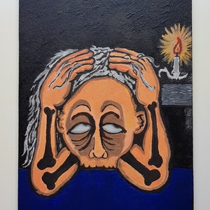 (CreativeWork) Overwrought iron deficiency by Luke Lord. arcylic-painting. Shop online at Bluethumb.
