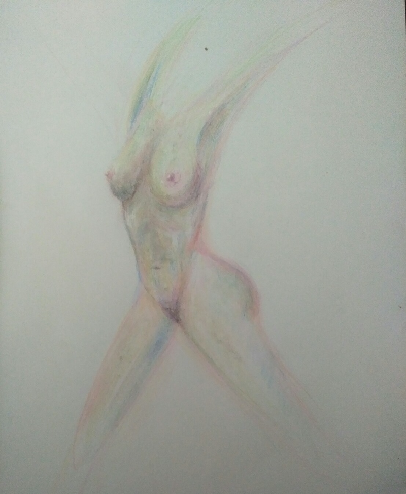 (CreativeWork) The Dancer (signed, certificate of authenticity provided) by K.A. Oakley. drawing. Shop online at Bluethumb.