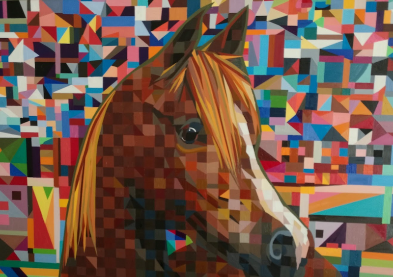 (CreativeWork) horse by mary shackman. Oil Paint. Shop online at Bluethumb.