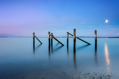 (CreativeWork) Flinders Jetty by Piers Buxton. photograph. Shop online at Bluethumb.
