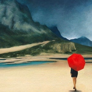(CreativeWork) The Places You Will Go by Trisha Lambi. oil-painting. Shop online at Bluethumb.