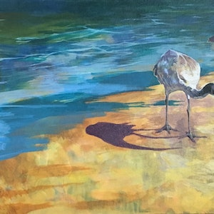 (CreativeWork) Triptych. Ibis on the Esplanade, Manly. Three canvas paintings. (Can be purchased singularly) *FREE NEXT DAY COURIER* by Scott Neil. arcylic-painting. Shop online at Bluethumb.