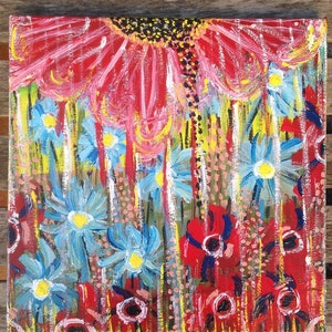 (CreativeWork) Rain In The Garden by Cristina Metelski. arcylic-painting. Shop online at Bluethumb.