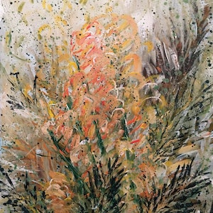 (CreativeWork) SUMMER GLORY - Flowering Grevillea - Ready To Hang by HSIN LIN. arcylic-painting. Shop online at Bluethumb.