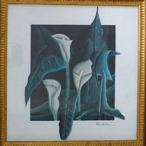 (CreativeWork) LILLYS OF THE VALLEY by Olivia Holtz. acrylic-painting. Shop online at Bluethumb.