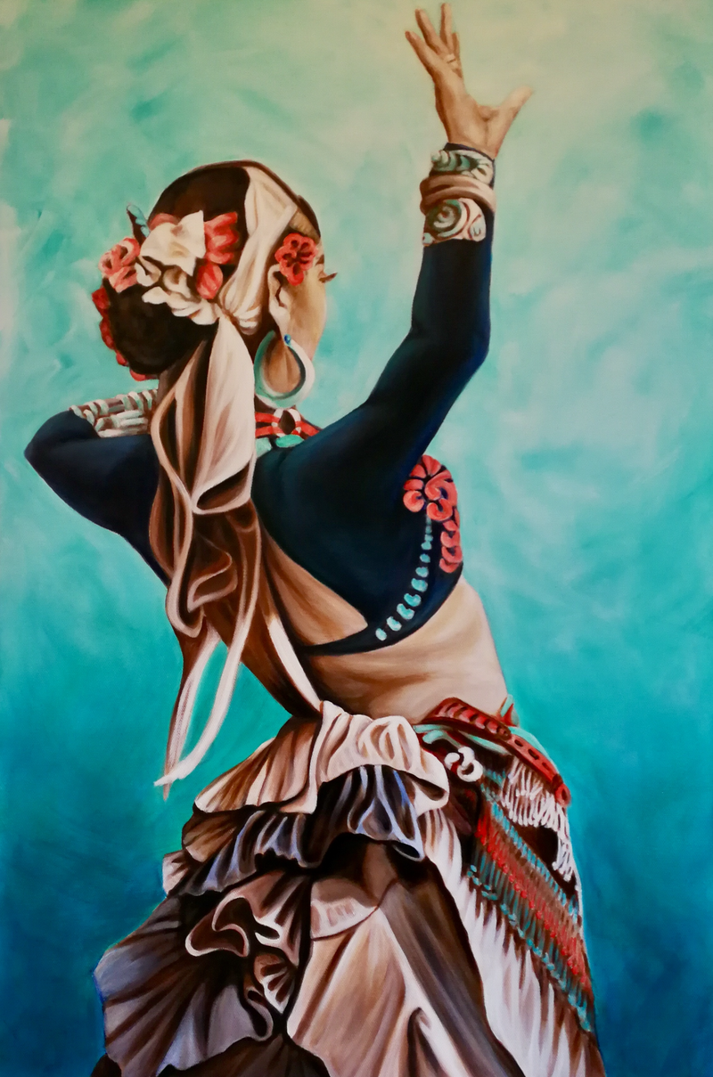 (CreativeWork) Gypsy Queen 1 by Louise Taylor. arcylic-painting. Shop online at Bluethumb.