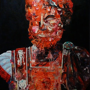 (CreativeWork) Commodus by Jeremy Elkington. oil-painting. Shop online at Bluethumb.