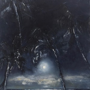 (CreativeWork) Midnight Canopy by Tiffany Blaise. oil-painting. Shop online at Bluethumb.