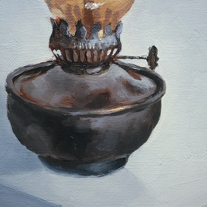 (CreativeWork) Oil Lamp by Jemma Cakebread. Oil Paint. Shop online at Bluethumb.