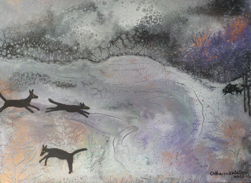 "(CreativeWork) "" Dingo den"" by Catherine Walker. acrylic-painting. Shop online at Bluethumb."