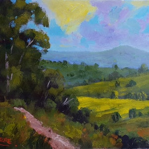 (CreativeWork) Montville Views 1 by Rod Moore. arcylic-painting. Shop online at Bluethumb.