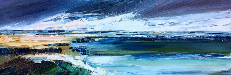 (CreativeWork) Southern Seas by Katie Wyatt. oil-painting. Shop online at Bluethumb.