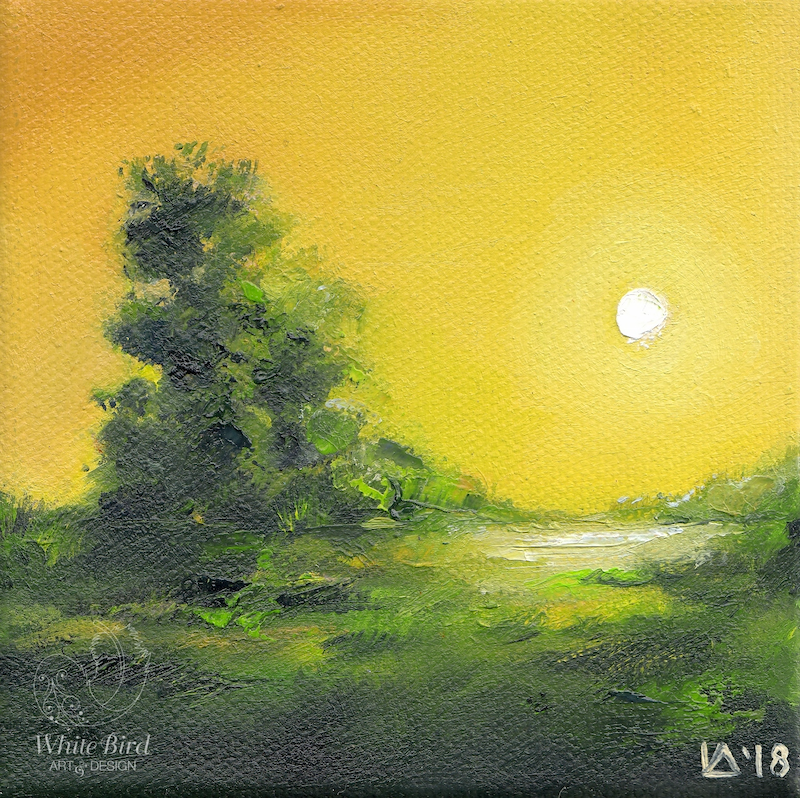(CreativeWork) Landscape in Miniature V by Lamice Ali. oil-painting. Shop online at Bluethumb.