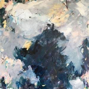 (CreativeWork) Blustery Day on the Bay by Nicole Fearfield. mixed-media. Shop online at Bluethumb.