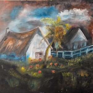 (CreativeWork) ranch by Agnes Pupler. oil-painting. Shop online at Bluethumb.