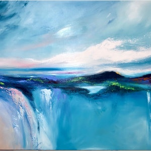 (CreativeWork) See The Sea   (large 153x102cm)  by Kat Las. arcylic-painting. Shop online at Bluethumb.