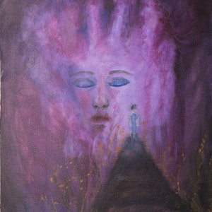 (CreativeWork) Piety by Agnes Pupler. arcylic-painting. Shop online at Bluethumb.