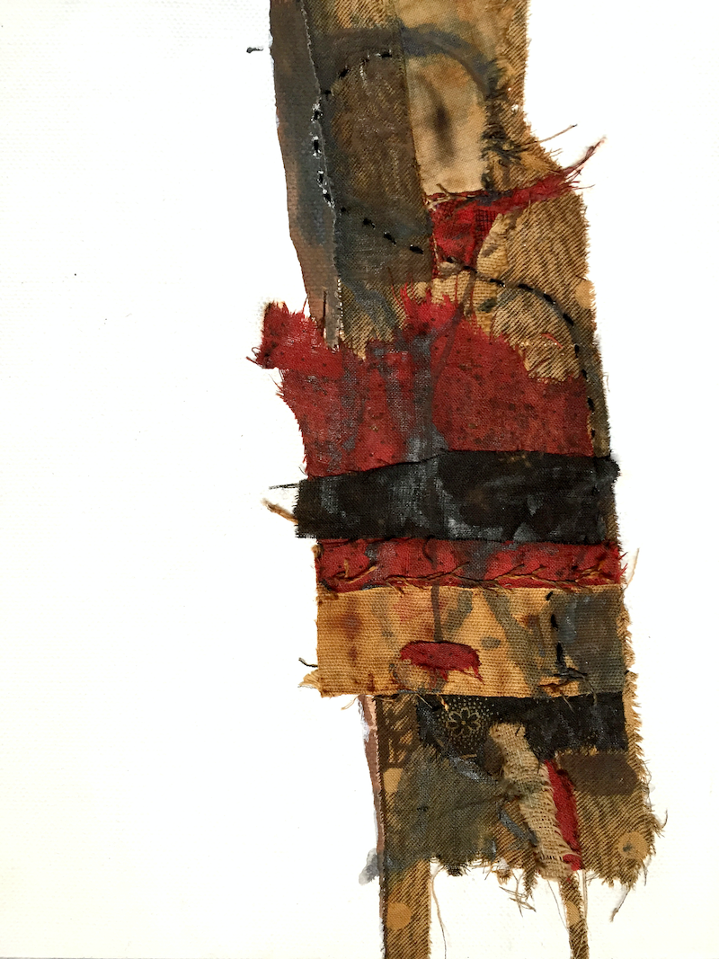 (CreativeWork) Abstract - TurkRedghost 1  by Jenny Davis. mixed-media. Shop online at Bluethumb.