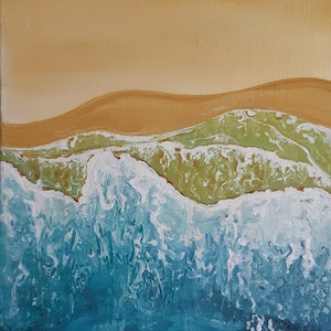 (CreativeWork) Ocean Abstract by Graham Gardiner. arcylic-painting. Shop online at Bluethumb.
