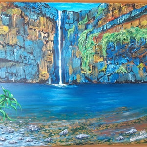 (CreativeWork) Emma Gorge by Graham Gardiner. acrylic-painting. Shop online at Bluethumb.