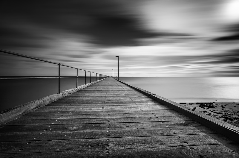 (CreativeWork) Rosebud Pier by Piers Buxton. photograph. Shop online at Bluethumb.