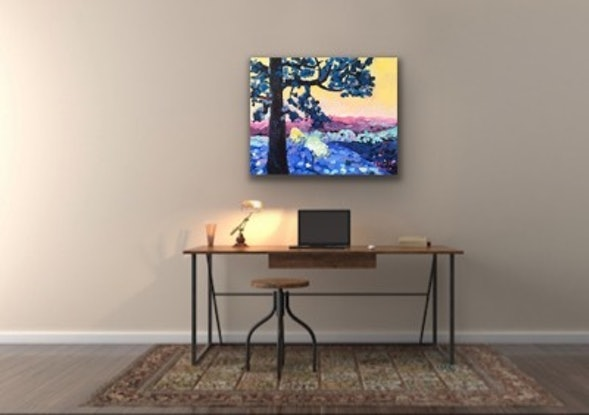 (CreativeWork) Queensland Kauri by Meredith Howse. Oil Paint. Shop online at Bluethumb.