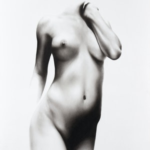 (CreativeWork) Nude Woman Charcoal Study 71 by Ashvin Harrison. drawing. Shop online at Bluethumb.