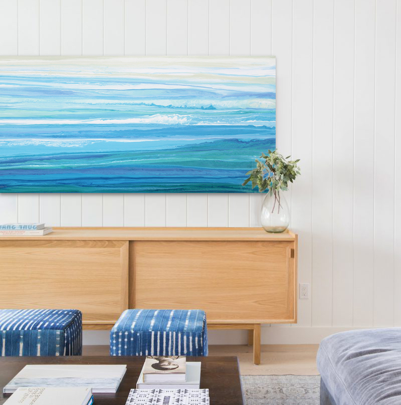 (CreativeWork) Oceaness by Stephanie Laine Pickering. arcylic-painting. Shop online at Bluethumb.