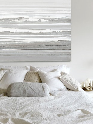 (CreativeWork) Ashore - Very large, textured, neutral painting by Stephanie Laine Pickering. Acrylic Paint. Shop online at Bluethumb.
