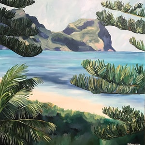 "(CreativeWork) ""Tropicana"" by Emma Nancarrow. arcylic-painting. Shop online at Bluethumb."