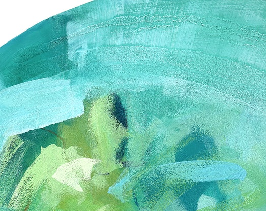 (CreativeWork) Momentum - large blue green abstract by Stephanie Laine. Acrylic Paint. Shop online at Bluethumb.