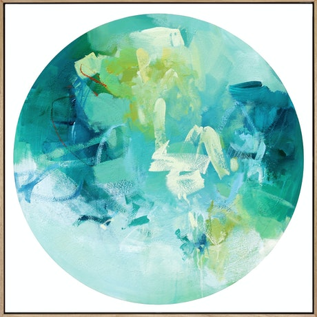 (CreativeWork) Beta - large blue green abstract by Stephanie Laine. Acrylic Paint. Shop online at Bluethumb.