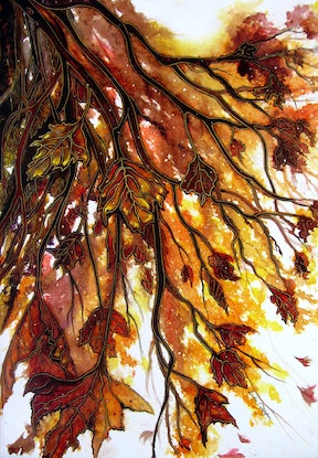 (CreativeWork) Autumn's Gift (Framed) by Linda Callaghan. Watercolour Paint. Shop online at Bluethumb.