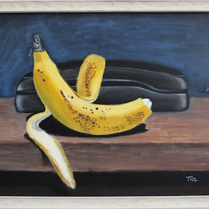(CreativeWork) Chillaxing by Tia Terry. oil-painting. Shop online at Bluethumb.