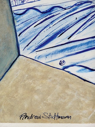 (CreativeWork) Balcony View  by Andrew Stattmann. Mixed Media. Shop online at Bluethumb.