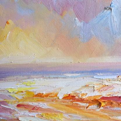 (CreativeWork) Summer feel #4 by Liliana Gigovic. Oil Paint. Shop online at Bluethumb.