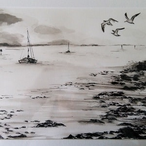 (CreativeWork) Quiet day at Raby bay by Sophia Papp. other-media. Shop online at Bluethumb.