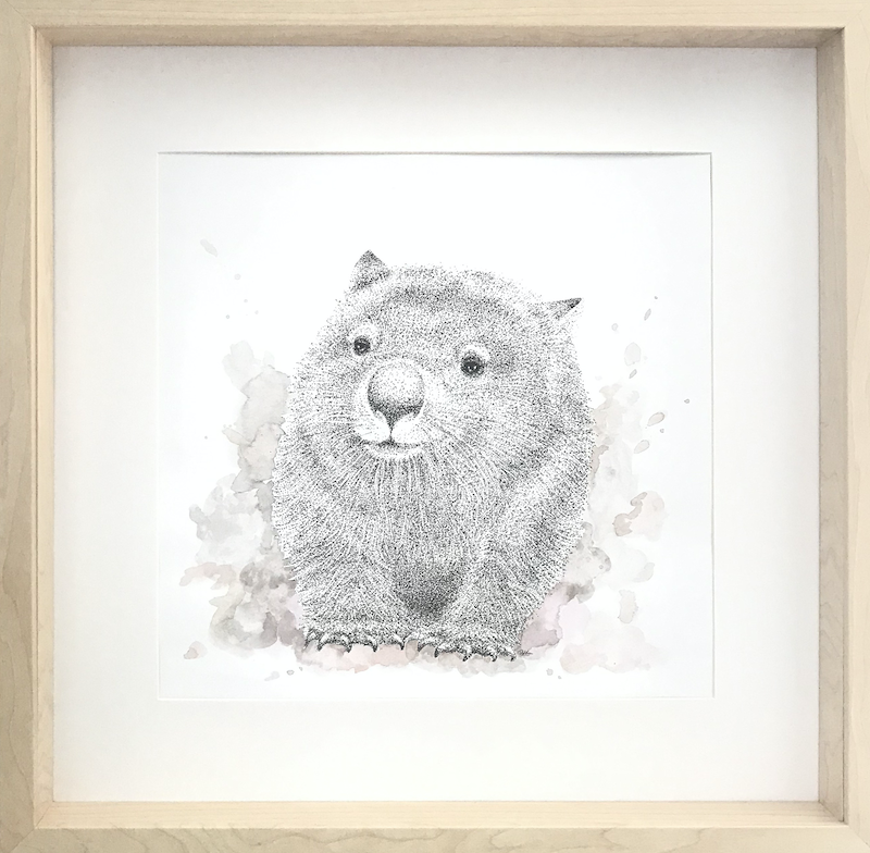 (CreativeWork) Dust Pig by Jess Black. mixed-media. Shop online at Bluethumb.
