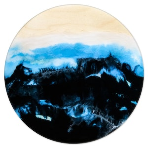 "(CreativeWork) ""NAVY SEAS"" by Belinda Doyle. resin. Shop online at Bluethumb."