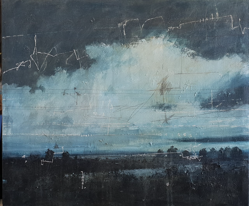 (CreativeWork) Untitled Landscape #1  by James Walker. arcylic-painting. Shop online at Bluethumb.