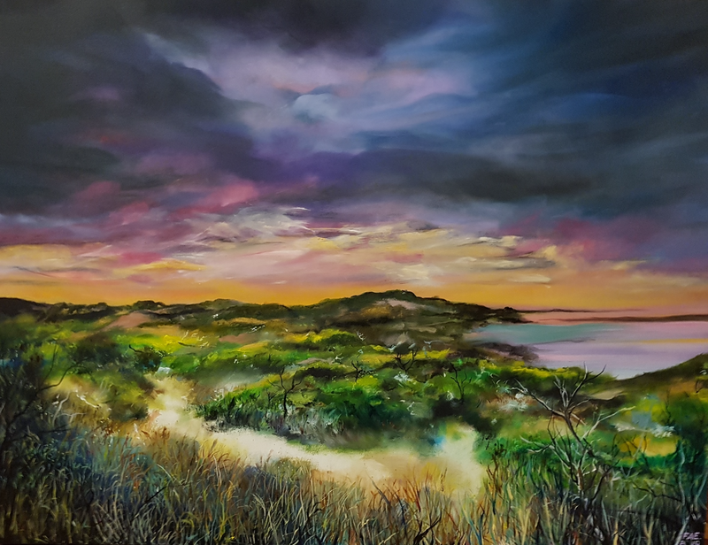 (CreativeWork) Sunset Dune by Fae Ballingall. #<Filter:0x0000562f83864a80>. Shop online at Bluethumb.